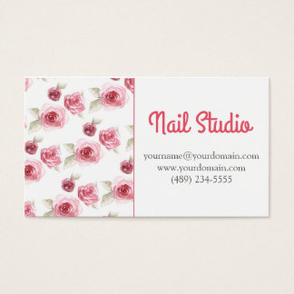 Blumen Rose nail Studio Visitenkarten