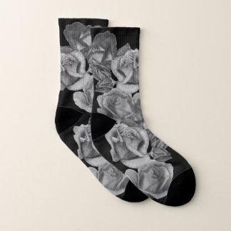 Blumen-Rote Rosen und Rosenknospen Blumenmonochrme Socken