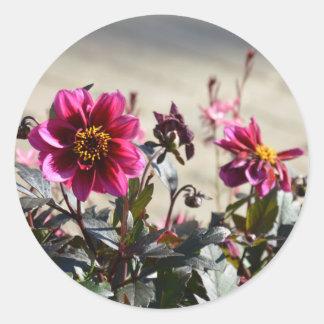 Blumen Runder Aufkleber