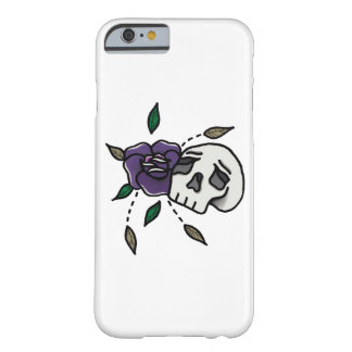 Blumen-//-Schädel Phonecase. Barely There iPhone 6 Hülle