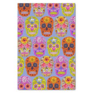 Blumen-Schädel Seidenpapier