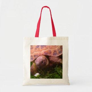 Blumen-Schildkröte Budget Stoffbeutel