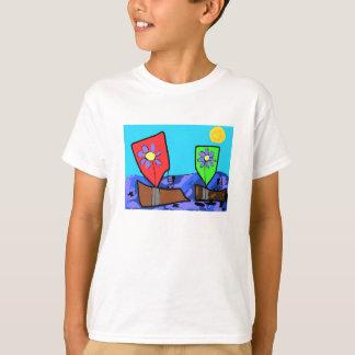 Blumen-Segel T-Shirt
