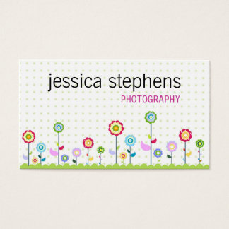 Blumen, stark vereinfacht visitenkarten