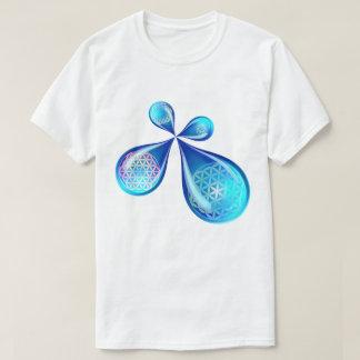 Blumen-Tropfen T-Shirt
