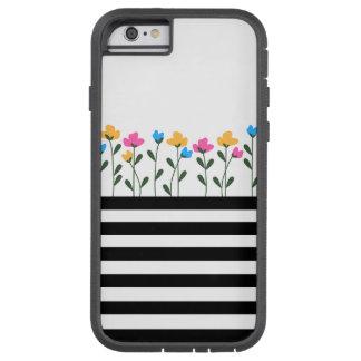 Blumen- u. Streifentelefonkasten Tough Xtreme iPhone 6 Hülle