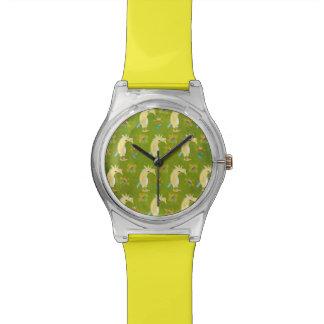 Blumen u. Unicorns Armbanduhr