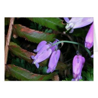 Blumen und Farne Karte