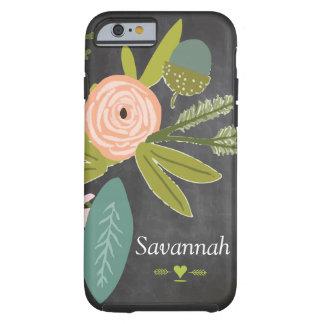 Blumen- und Fauna-Tafel Tough iPhone 6 Hülle