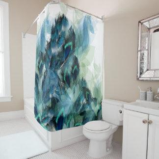 Blumen und Feder-Hintergrund-Dusche Curtainr Duschvorhang