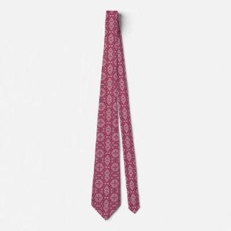 Blumen und Formen im Himbeerrot Personalisierte Krawatten