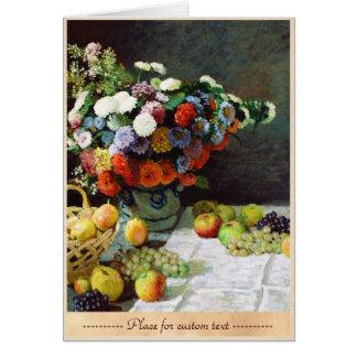 Blumen und Frucht, Claude 1869 Monet Karte