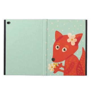Blumen und niedlicher Fox