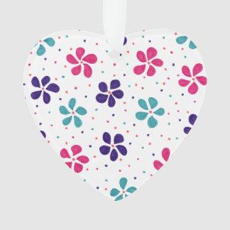 Blumen und Punkt-Muster Ornament