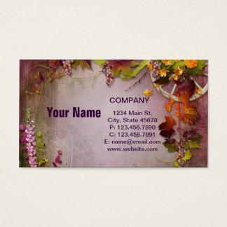 Blumen und Trauben Visitenkarte