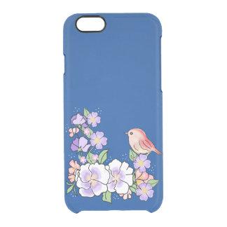 blumen und Vogel Durchsichtige iPhone 6/6S Hülle