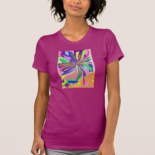 Blumen-Verpackungs-Geldstrafe-Jersey-T - T-Shirt