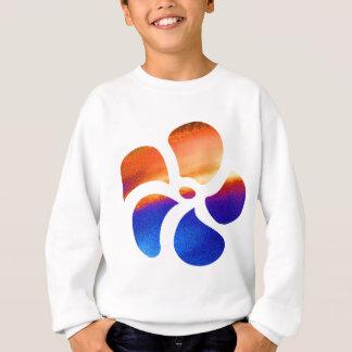 BLUMEN Verzierungs-Grafik-Designs Sweatshirt