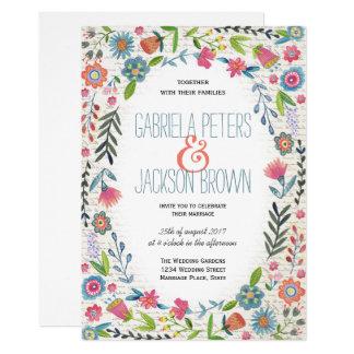 Blumen  Wedding Einladungen Boho Aquarells