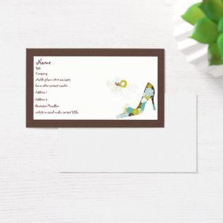 BlumenAbsatz-Schuh Visitenkarte