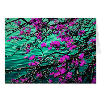 Blumenanmerkungskarte Karte