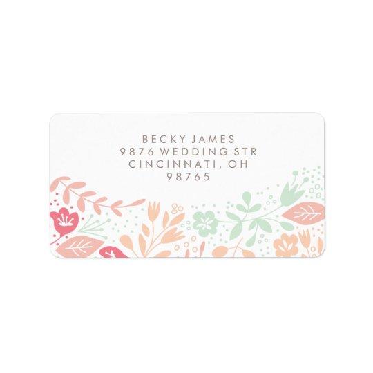 Blumenanmut-Aufkleber-Rücksendeadresse Adressetikett