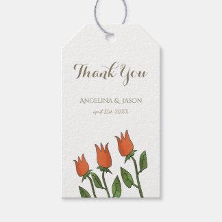 BlumenAquarell-Frühlings-Tulpe-weiße reine Geschenkanhänger