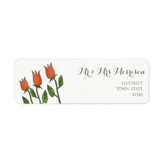 BlumenAquarell-Frühlings-Tulpe-weißes reines
