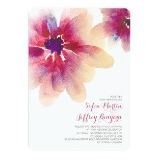 BlumenAquarellhochzeitseinladungen 12,7 X 17,8 Cm Einladungskarte