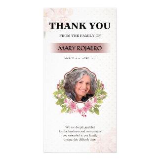 Blumenbegräbnis danken Ihnen zu kardieren Karte