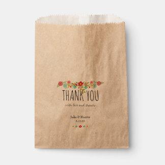 Blumenbevorzugungs-Taschen Geschenktütchen