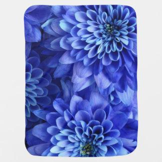 Blumenblau Babydecke