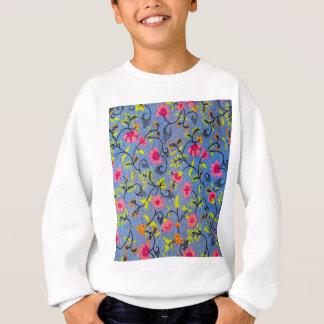 BlumenBlumen-Entwurfs-Beschaffenheits-Gewebe Sweatshirt