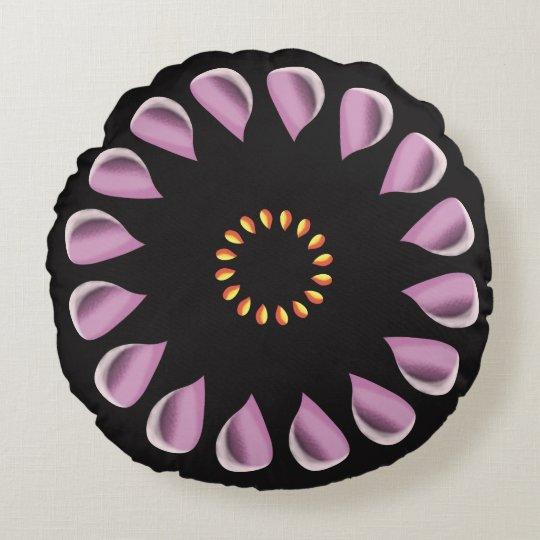 Blumenblumenblätter Rundes Kissen