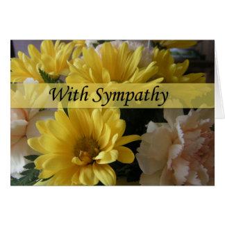 Blumenblumenstrauß-große Schriftart-Beileids-Karte Grußkarte