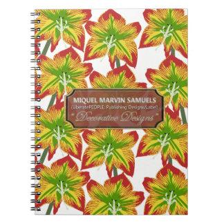 Blumenblüten verzierten modernes Notizbuch Spiral Notizblock