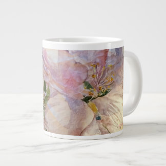 Blumenblütenwatercolor-Kunst-Tasse Jumbo-Tasse