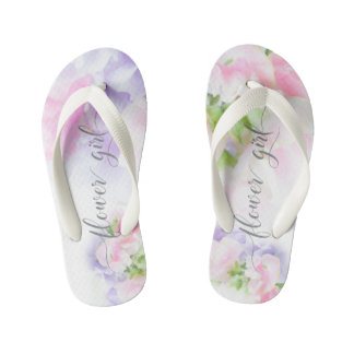 BLUMENCHIC, der SÜSSE ERBSEN Blume Girl2 WEDDING Kinderbadesandalen