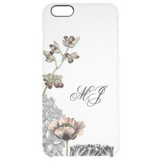 Blumencollagen-eleganter klarer einfacher durchsichtige iPhone 6 plus hülle