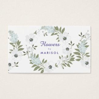 Blumendesigner-Floristen-Visitenkarte-Schablone Visitenkarte