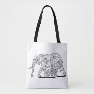 Blumenelefanten Tasche