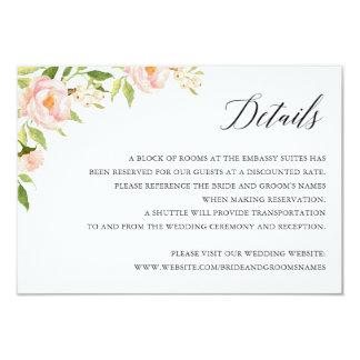 BlumenElegantRoses Hochzeits-Detail-Einsatz-Karte Karte