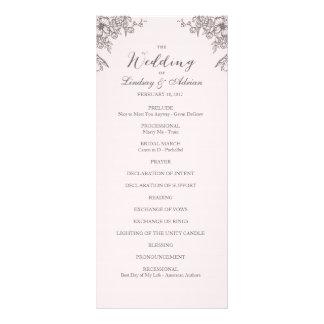 Blumeneleganz-Hochzeits-Programm Werbekarte