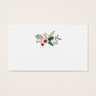 Blumenetzeichen-zusammenpassende Eskorte-Karten Visitenkarte