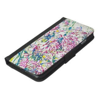 Blumenfall iPhone 6/6s Plus Geldbeutel Hülle