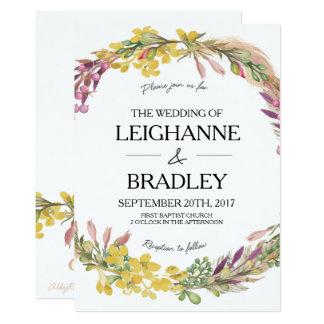 Blumenfedern, die Einladung wedding sind
