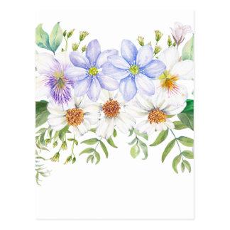 Blumenfeld-Blumenstrauß Postkarte