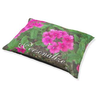 BlumenFoto der hübschen rosa Verbene-Blumen Haustierbett