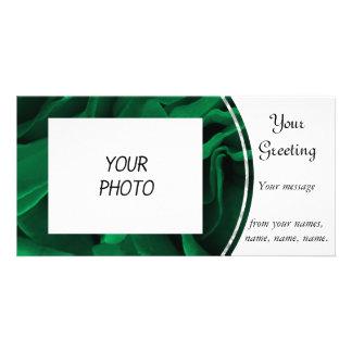 BlumenFoto der reichen Smaragdgrün-Rosen Karte