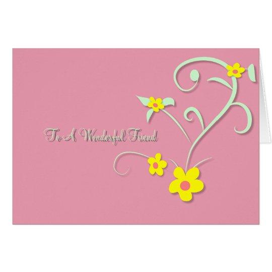 Blumenfreundschafts-Karte Grußkarte